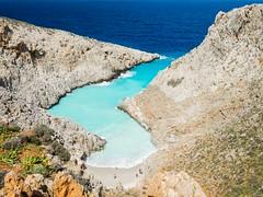 isolated beach of Seitan Limania (françoispeyne) Tags: crête envoyage plage isolée grèce mer couleurs été bleu rochers natures gallery