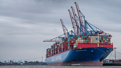 Hamburg Hafen (Stefan Giese) Tags: fujixt2 fuji xt2 fujilove hamburg hafen harbour infrastructure infrastruktur coscoshippingaries aries containerschiff schiff ship economy