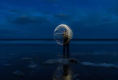 Full moon (Gullivers adventures) Tags: fullmoonparty bluehour fun seascape beach eastcoast adventure light surf beautifulevening seabreeze calm
