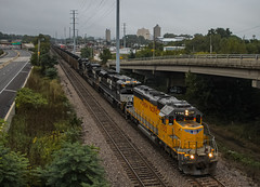 Southbound Empties (SantaFe669) Tags: unionpacific norfolksouthern c449w sd70acu sd40n trains railfanning diesellocomotives locomotives railroads