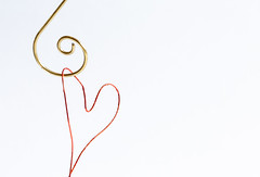 14/31: Hang on to your heart (judi may) Tags: october2019amonthin31pictures macromonday macro macromondays wire metal negativespace highkey minimal minimalism minimalist lessismore less whitebackground heart canon5d