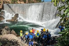 Instructor explaining rescue training exercise