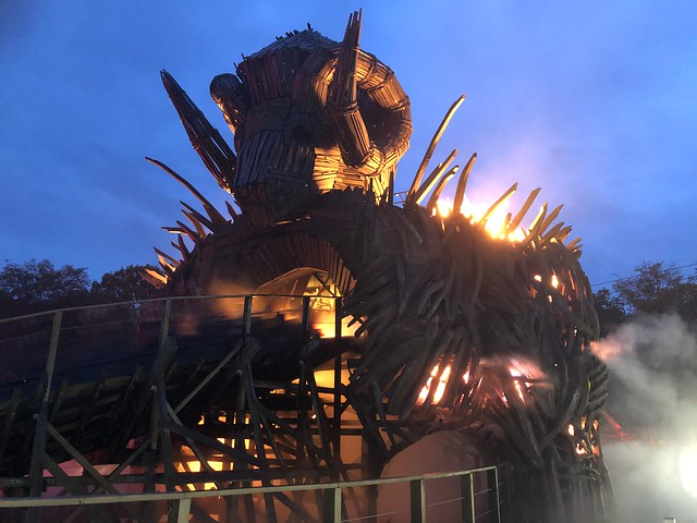 Wicker Man at night