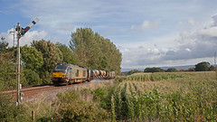 (R)eplacing (H)orribly (T)roublesome (T)ractors (Richie B.) Tags: 68018 68001 vossloh stadler rail caterpillar 3s77 great corby newcastle and carlisle railway rhtt head treatment train drs direct services