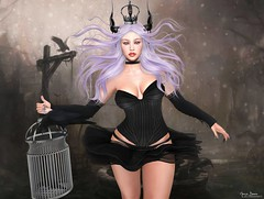 "★ Look 529 (Marzia & Shaitan Demon ""Frozen Space Fashion Blog ) Tags: lelutka belleza blackfair2019 equal10 hilted eclipsedesign olive lotus oynx gacha events secondlife bento mesh"
