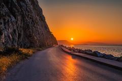 Sunset (Vagelis Pikoulas) Tags: sun sunset rocks road street psatha greece view landscape sea seascape autumn october 2019 tokina 2470mm canon 6d