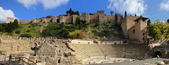 The Roman Theatre next to the outer walls of the Alcazaba fortress (B℮n) Tags: málaga fuentedelastresgracias roundabout paseodelparque malaka malaga fuentedelastresninfas fountain lafarolapromenade promenade alcazaba fortress moorish history monument roman theatre oldestcity costadelsol spain spanje andalusia andalucia vista oranges palmtrees mediterranean center street motor walls openmuseum hill outerwalls palace ancient citadels holiday sightseeing park universityofmalaga universidaddemálaga catedraldelaencarnacióndemálaga jardinesdepedroluisalonso motorcyclist traffic road fountainfilledgardens medieval overlooking sea lush rotonde fontein tamronsp2470mm moon laalcazaba 100faves topf100