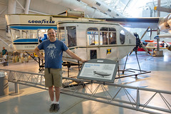 Me and the Pilgrim gondola (unit2345) Tags: chantily virginia udvarhazy airandspace museum bill dad