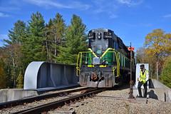 Lining the Switch at Thendara (ERIE1960) Tags: railroad trains locomotive adirondacks adirondackscenic alco mlw passengertrain