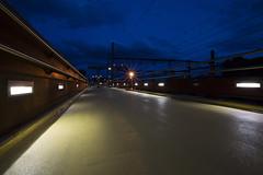 Dijon, passerelle du pont de l'Arquebuse (Marc_L21) Tags: dijon arquebuse nuit pont passerelle heurebleue