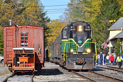Departing Thendara (ERIE1960) Tags: railroad trains locomotive adirondacks adirondackscenic alco mlw passengertrain newyorkrailroads