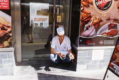 Smoke Squat (GPhace) Tags: 2019 35mm brooklyn e100 ektachrome100 filmphotography kodak madewithkodak minoltax700 nyc newyorkcity slidefilm filmgrain manualfocus streetphotography