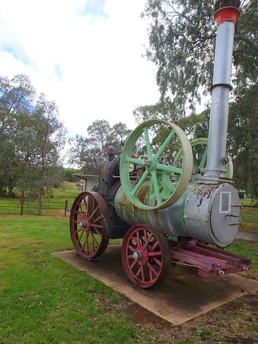 Wirrabara. This steam engine was taken to the Wirrabara Forests in 1882. They were established 1877. The engine drove a circualr saw used for cutting railway sleepers in the 1880s. There were two saw mills at WIrrabara