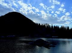Setting Sun at Mountain Lake above Salt Lake City, Utah (StephenLeedyPhotography) Tags: mountain lake setting sun blue sky cloud nature utah salt city