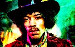 colors of Jimi... (Stu Bo - Tks for 13 million views) Tags: jimihendrix photoshop hero music genuis legend