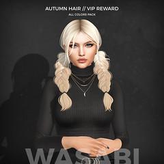Autumn Epiphany Vip Reward (Wasabi // Hair Store) Tags: 3d mesh hair secondlife wasabipills aviglam league izzies maitreya catwa insol kibitz kitja rowne