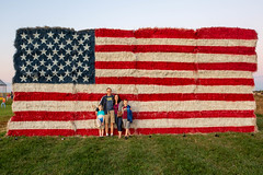 Family photo and the hay US Flag (unit2345) Tags: thermont maryland billy jack bill dad mom joanna