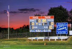 Sunset at Turney Ford Field - Gordonsville, Tennessee (J.L. Ramsaur Photography) Tags: jlrphotography nikond7200 nikon d7200 photography photo gordonsvilletn middletennessee smithcounty tennessee 2019 engineerswithcameras turneyfordfield photographyforgod thesouth southernphotography screamofthephotographer ibeauty jlramsaurphotography photograph pic gordonsville tennesseephotographer gordonsvilletennessee tennesseehdr hdr worldhdr hdraddicted bracketed photomatix hdrphotomatix hdrvillage hdrworlds hdrimaging hdrrighthererightnow sunset sportsillustrated sportsphotography sports flickrsports sports–highschool ruralsouth rural ruralamerica ruraltennessee ruralview oldscoreboard smalltownamerica americana patrioticproud patriotic footballfield football highschoolfootball highschoolsports athletics highschoolathletics cocacola cokesign cocacolasign coke cocacolabottlingworks cocacolascoreboard