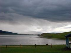 Tsagaan Nuur/2 (Cath Forrest) Tags: mongolia tsagaannuur lake grey sky clouds stormy rain countryside landscape