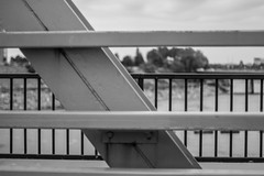 Lines (274/365) (lacygentlywaftingcurtains) Tags: 365 blackandwhite lines pattern bridge parallel vertical horizontal diagonal