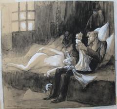 Jean Veber, L'Homme aux poupées, 1899 (leaf whispers) Tags: doll erotic eros eroticism érotisme poupée mannequin mannikin érotique woman man paris girl perverse perversion fille naked nude nue