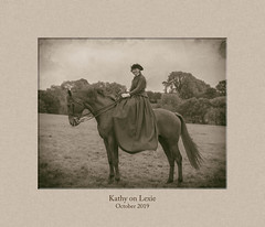 Photo of Kathy side-saddle on Lexie