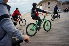 Biker Gang (dtanist) Tags: nyc newyork newyorkcity new york city sony a7 7artisans 35mm brooklyn coney island biker gang kids children bicycle bike bicyclist bicyclists bicycles biking cyclist cyclists boardwalk