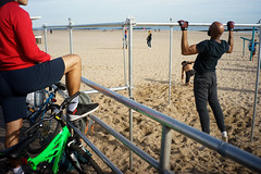 Cage (dtanist) Tags: nyc newyork newyorkcity new york city sony a7 7artisans 35mm brooklyn coney island cage bars pull up exercise sand beach boardwalk