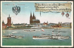 Köln a. Rh. Panorama (tico_manudo) Tags: köln colonia alemania alemaniavintagepostcards germany cartespostalesanciennes escudosdearmas barcosdevapor steamboats
