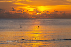 Sunset with SUP/Surfers at Nai Harn beach, Phuket, Thailand   Oct 2019 (Phuketian.S) Tags: sunset nai harn naiharn water sea ocean beach sup surfer mount mountain sky cloud reflex reflection people holiday vacation nature landscape andaman wave blue gold yellow orange phuketian