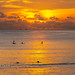 Sunset with SUP/Surfers at Nai Harn beach, Phuket, Thailand   Oct 2019