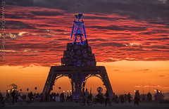 Burning Man Sunrise (Dust To Ashes) Tags: burningmanfestival burningman2019 burningman metamorphoses theme burning man bm2019 2019 dust ashes dusttoashes wwwdusttoashesnet sculpture sculptures installation installations surreal playa desert nevada gerlach nv blackrockcity brc art burningmanart desertparty photography photos photo pictures ales dramatic reddish fire sky clouds skies blue neons abstract shapes best sunrise sunset shot pics