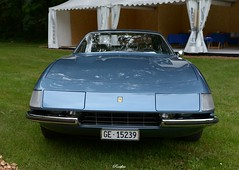 1972 Ferrari 365 GTS/4 Daytona Spider (pontfire) Tags: concours d'elégance suisse 2019 château de coppet ferrari 365 gts4 daytona spider carrozzeria scaglietti leonardo fioravanti v12 gtb4 enzo italian italienne sport véhicule collection pontfire car cars autos automobili automobile automobiles voiture voitures coche coches carro carros wagen classic old antique ancienne vieille veteran vintage classique bil αυτοκίνητο 車 автомобиль oldtimer retromobile 自動車 מכונית gian battista pininfarina légende prestige dexception legend luxury gran turismo grand tourisme gt ge 15239 very très rare 1972 72 70s