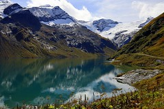 Magical world of mountains and water (mark.paradox) Tags: austria kaprun mooserboden stausee lake reservoir water beautiful reflection adventure hiking altitude mountains autumn view scenery colors