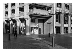 FILM - Life amongst the concrete (fishyfish_arcade) Tags: 35mm analogphotography bw barbican blackwhite blackandwhite filmphotography filmisnotdead hp5 istillshootfilm london monochrome olympusom1 zuiko50mmf18 analogcamera film ilford mono streetphotography