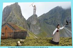 LA RAGAZZA E IL CORVO (ADRIANO ART FOR PASSION) Tags: islanda islande iceland fiaba ragazza corvo mago tundra montagna fattore bontà photoshop fotomontaggio photomontage laragazzaeilcorvo fiabeislandesi avarizia