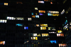 Mies en place [Explored] (KevinIrvineChi) Tags: building colors night lights van der mies rowe apartmentbuildings windows lake chicago color architecture drive pattern shore bold streeterville voyeuristic chicagoist curbedchicago canon illinois north lsd chi 880 norht g7x blues blue yellow red purple green turquoise grid flickr explore flickrexplore explored