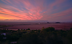 Montaña Cullera (Rubén Minsa) Tags: amanecer sunset nubes clouds cielo cullera sky spain españa mountain montaña landscape paisaje rojo red marchal arroz