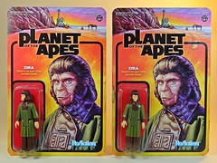 Funko x Super7 – ReAction Figures – Planet of the Apes – Zira Damaged Card Replacement Received (My Toy Museum) Tags: funko super7 reaction action figure planet ape apes zira replacement card wax damage