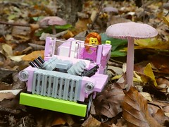 Pink Jeep with a pink shroom (captain_j03) Tags: toy spielzeug 365toyproject lego minifigure minifig moc car auto jeep 6wide matchbox pilz fungi mushroom pink crazytuesday