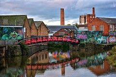 Urban reflections! (Nina_Ali) Tags: canal bridge graffiti reflection leicester water river buildings northcanal urbanspaces rustic streetart art
