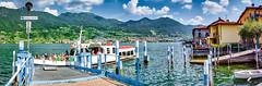 Lago d'Iseo 2019 - Monte isola - Carzano (karlheinz klingbeil) Tags: d850 nikon steg see lago italy italia lake lagoiseo schiff ship anleger pier 2470 boot panorama italien boat tamron2470 water wasser