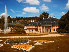 The Pillnitz castle on the Elbe near Dresden (Ostseetroll) Tags: deu deutschland dresden geo:lat=5100849533 geo:lon=1386998237 geotagged sachsen schlosspillnitz olympus em5markii castle