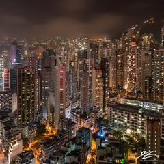 Clarity and Haze (TVZ Photography) Tags: square 1x1 sheungwan midlevels cityscape skyline towers buildings hongkongisland city night evening lowlight longexposure sonya7riii sony 1635mm sel1635gm