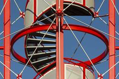 Red spiral staircase (Jan van der Wolf) Tags: map197292v red redrule rood tower toren spiralstaircase staircase stairs trap wenteltrap denhaag construction steel lines lijnen lijnenspel interplayoflines playoflines architecture architectuur devaillant schilderswijk