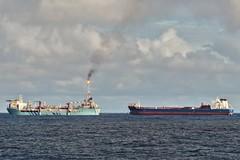 Aoka Mizu and Navion Oceania (Iain Maciver SY) Tags: hurricaneenergy ship tanker oil oilindustry oilexploration transfer shiptoship lancasterfield bluewater maritime marine