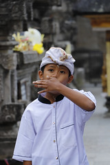 Nose problems (Travel Marco) Tags: indonesia bali asia ubud canon children baby child portrait people hindu hinduism