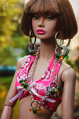 Silvia (astramaore) Tags: astramaore poppyparker poppy shorthair ferris wheel handmade jewelry summer it airways integritytoys doll dollphotography