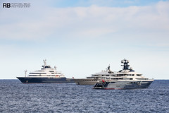 Octopus - 126,2m - Lurssen & Here Comes The Sun - 83m - Amels & Tranquility - 91,5m - Oceanco (Raphaël Belly Photography) Tags: photographie belly raphael rb raphaël photography boat ship yacht yachts bateau superyacht my sea mer ships vessel m motor meter meters vessels white octopus bianca blanche bianco blanc 126 lurssen 126m lürssen blue tranquility bleu imo bleue equanimity mmsi 1007213 319866000 sun here comes 92 the oceanco 91m 83m 319059800 1012086 yellow jaune beige cream 83 crème amels 1012414 319105500