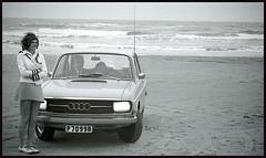 It was a windy day, that day in Denmark 1971... (iEagle2) Tags: woman wife 1971 denmark jylland jungefrau ehefrau female femme frau film minolta summer srt101 danishwestcoast